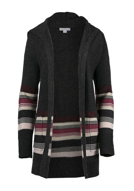 Ladies' Hooded Stripe Cardigan