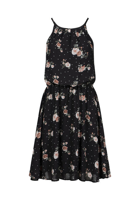 Women's Floral Blouson Dress