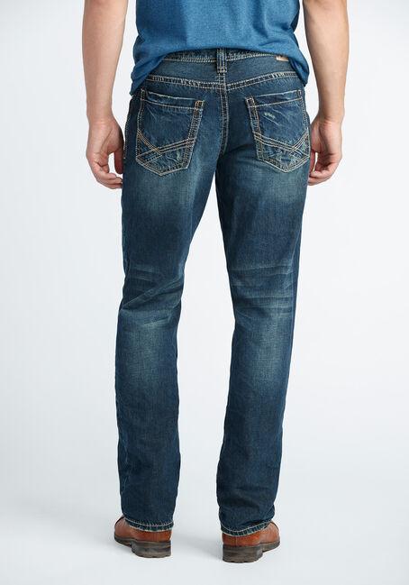 Men's Relaxed Straight Dark Wash Jeans, DARK VINTAGE WASH, hi-res