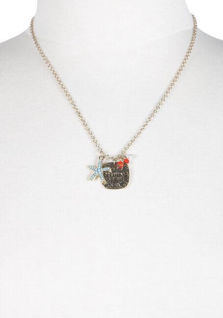 Women's Ocean Charm Necklace, GOLD, hi-res