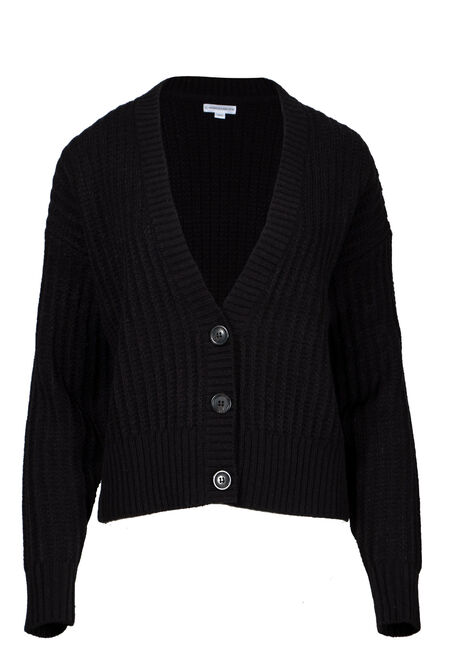 Women's Button Front Cropped Cardigan