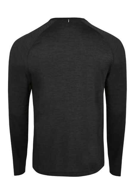 Men's Colour Block Athletic Tee, BLACK, hi-res
