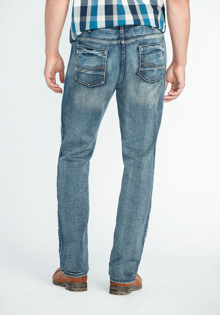 Men's Slim Straight Jeans, MEDIUM VINTAGE WASH, hi-res