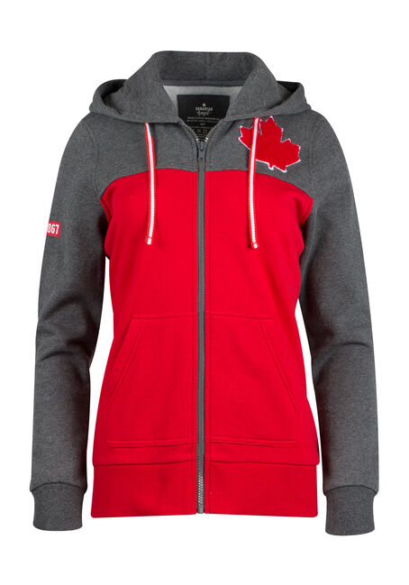 Ladies' Canada Zip Up Hoodie
