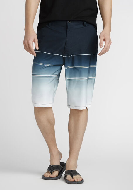 Men's Striped Hybrid Short