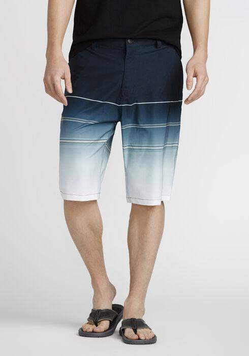 Men's Striped Hybrid Short, TURQUOISE, hi-res