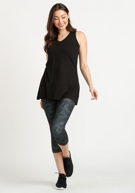 Women's Legging Tank, BLACK, hi-res