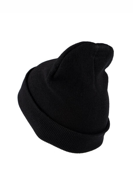 Men's Ribbed Hat, BLACK, hi-res