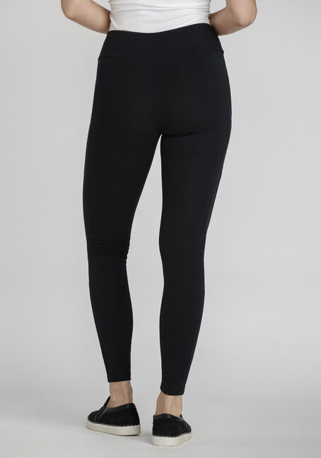 Women's Moto Detail Legging, BLACK, hi-res