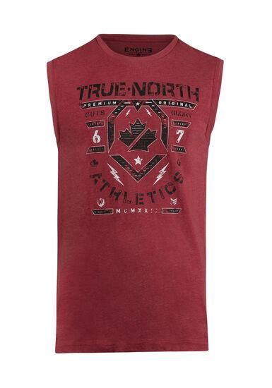 Men's True North Tank, RED, hi-res
