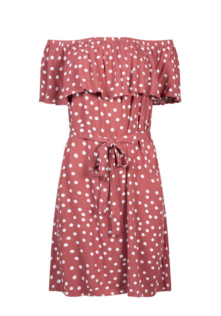 Women's Polka Dot Bardot Dress