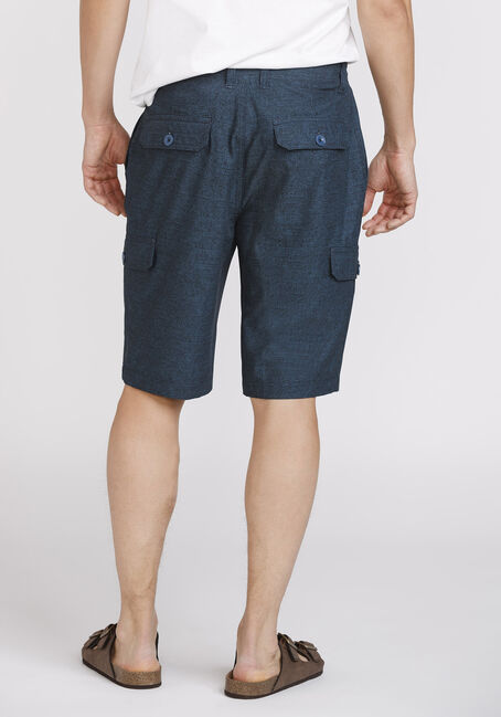 Men's Textured Cargo Hybrid Short, BLUE, hi-res