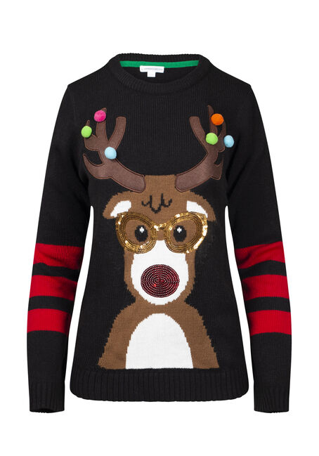 Women's Reindeer Holiday Sweater