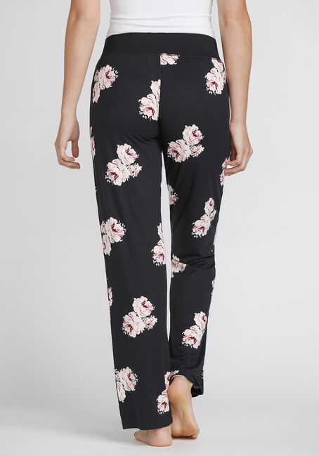 Women's Floral Lounge Pant, BLACK, hi-res