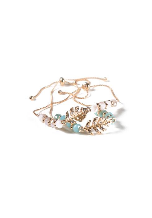 Women's Lariat Bracelet Set, GOLD, hi-res