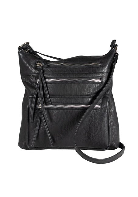 Women's Triple Zipper Cross Body Bag