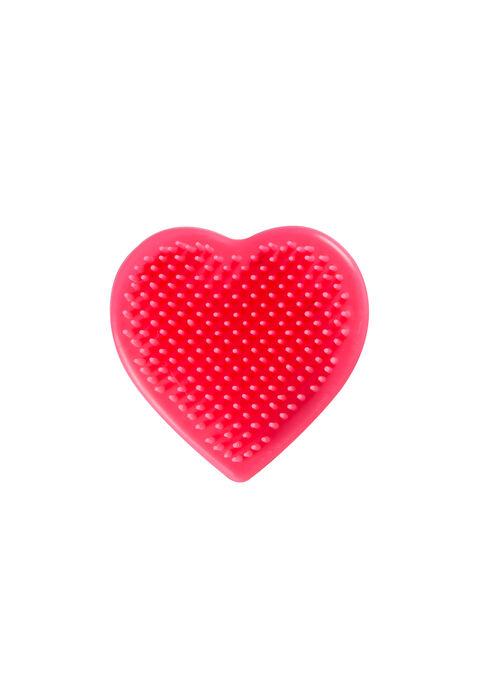 Heart Shaped Detangling Brush, BRIGHT PINK, hi-res