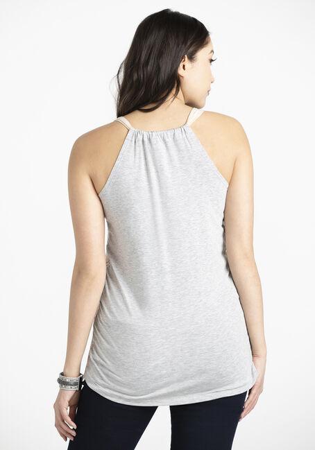 Women's Lace Overlay Tank, BLUSH, hi-res