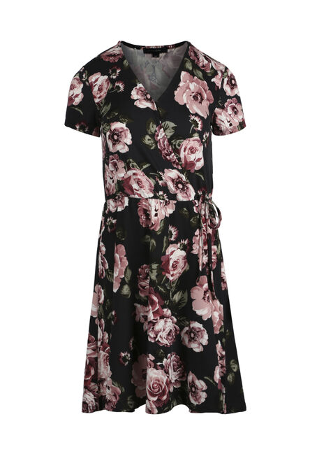 Women's Floral Wrap Dress