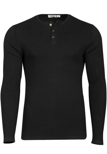 Men's Thermal Knit Henley