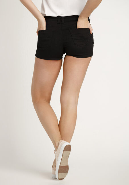 Women's Cargo Shortie, BLACK, hi-res