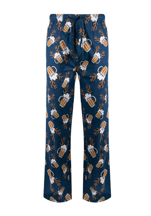 Men's Beer Mug Lounge Pant, NAVY, hi-res