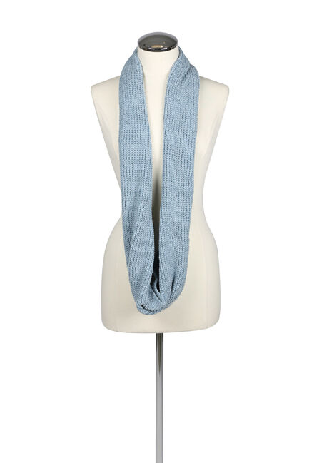 Ladies' Chenille Infinity Scarf, SHADOW BLUE, hi-res