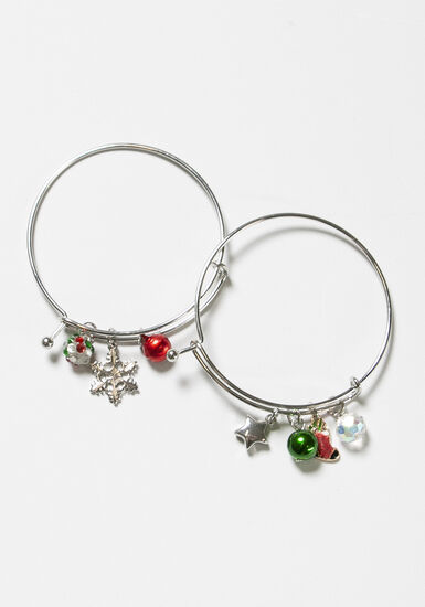 Women's Christmas Bangles, MULTI, hi-res