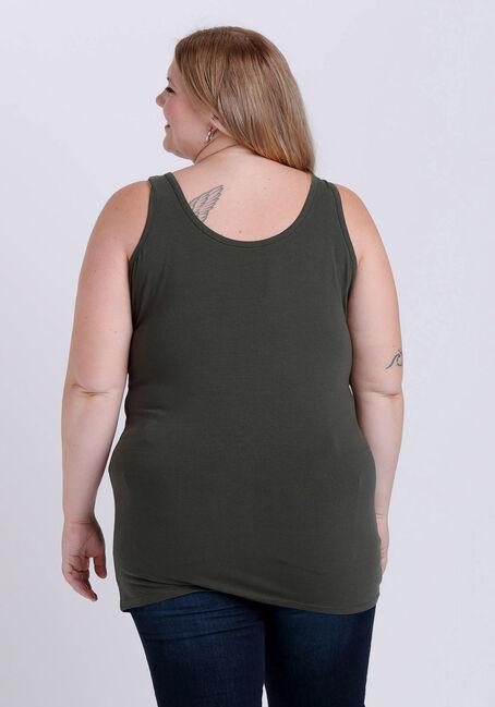 Women's Double Scoop Tunic Tank, OLIVE NIGHT, hi-res