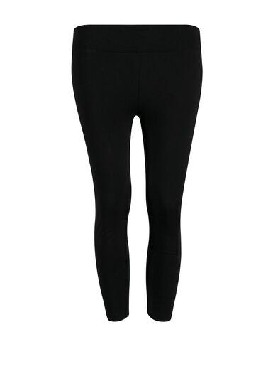 Women's Wide Waist Capri Legging, BLACK, hi-res