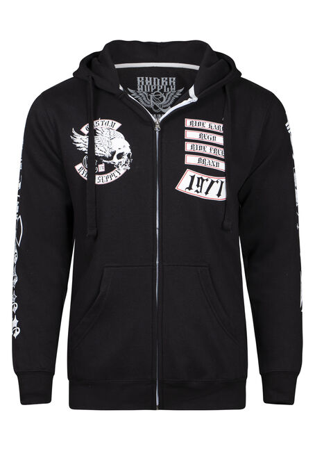 Men's Flying Skull Graphic Hoodie