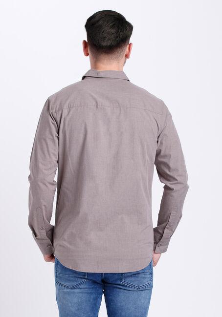 Men's Textured Shirt, BROWN, hi-res