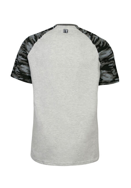 Men's Camo Raglan Tee, LIGHT GREY, hi-res