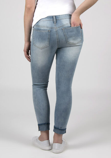 Ladies Skinny Ankle Jeans, LIGHT WASH, hi-res