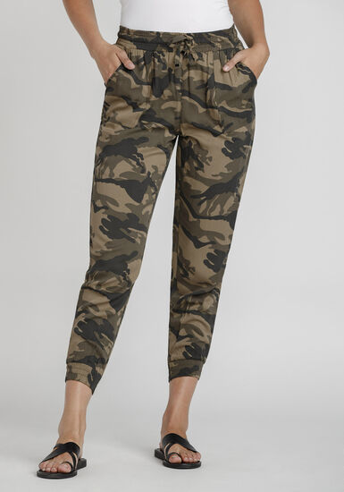 Women's Camo Soft Pant, DARK OLIVE, hi-res