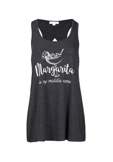 Women's Margarita Keyhole Tank, CHARCOAL, hi-res