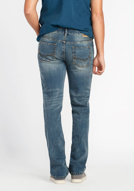 Men's Slim Straight Jeans, LIGHT VINTAGE WASH, hi-res