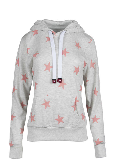 Ladies' Star Popover Hoodie, OATMEAL, hi-res