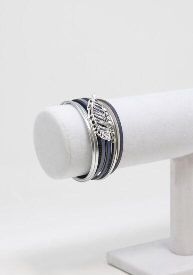 Women's wrap bracelet, BROWN, hi-res