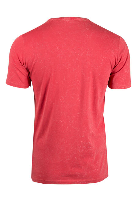 Men's Washed Tee, FLAME, hi-res