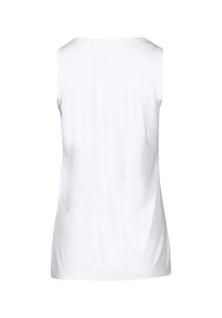 Women's Scoop Neck Loose Fit Tank, WHITE, hi-res