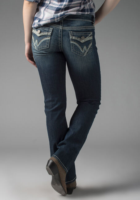Ladies' Relaxed Straight Jeans, MEDIUM VINTAGE WASH, hi-res