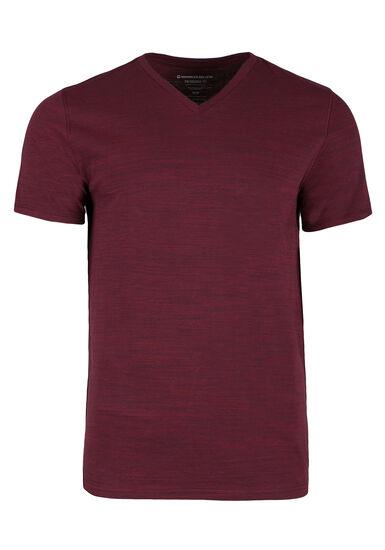 Men's Everyday V-neck Tee, RED, hi-res