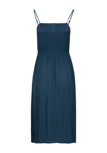 Women's Midi Dress, TEAL, hi-res