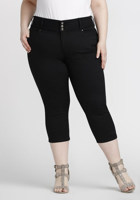 Women's Plus Size Skinny Capri