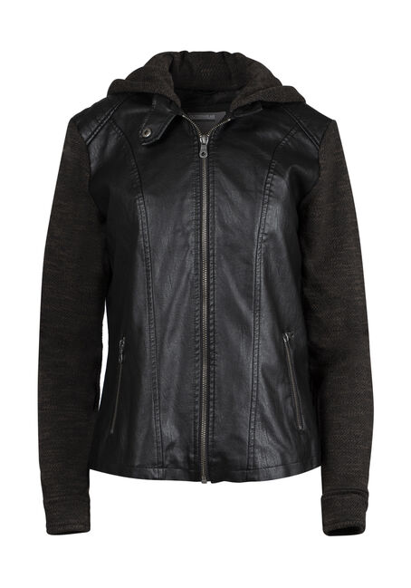 Ladies' Hooded Moto Jacket