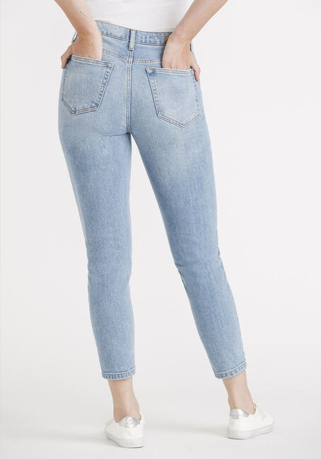 Women's High Rise Slim Straight, MEDIUM WASH, hi-res