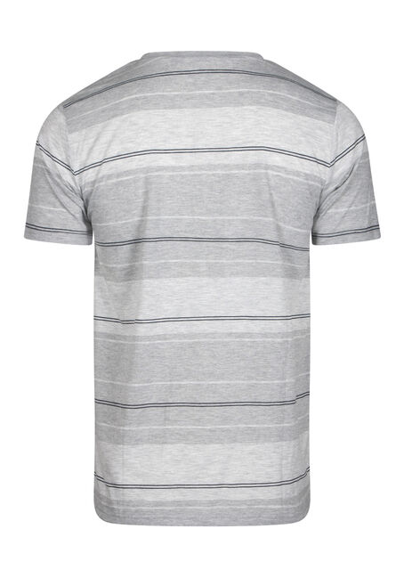 Men's Everyday Striped Crew Neck Tee, LIGHT GREY, hi-res