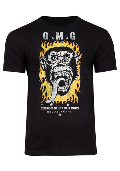 Men's Gas Monkey Garage Tee, BLACK, hi-res