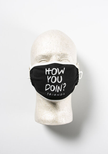 Friends Face Mask, BLACK, hi-res